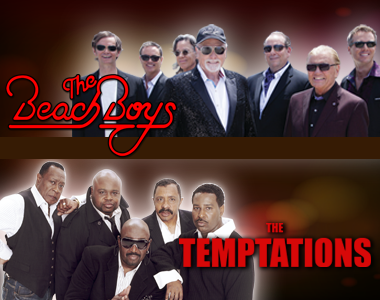 "THE BEACH BOYS and THE TEMPTATIONS - ""Surf and Soul Tour"""